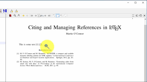 How To Cite References In Latex
