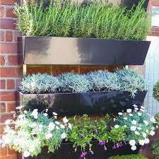 wall mounted fibreglass trough planters