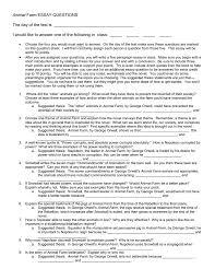 Essay On Animal Farm By George Orwell Animal Farm Essay Questions