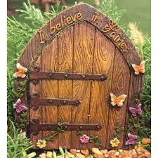 Small Picture I Believe in Fairies Door Fairy Garden Landscaping Miniature Door