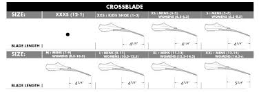 Tyr Swim Fins Size Chart Crossblade Training Fins