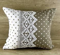 Gray beige polka dot shabby chic handmade ... - Amazon.com