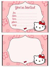 Hello Kitty Birthday Party Invitations For Kids Printable