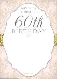 Free Printable 60th Birthday Invitation Templates Drevio