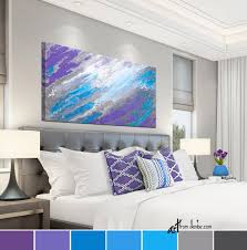 purple blue gray canvas wall art for
