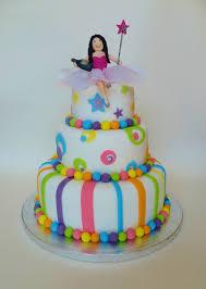 Girls Rainbow Coloured 18th Birthday Cake Cakecentralcom
