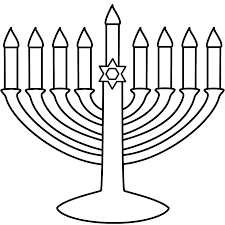 Easy To Print Menorah Coloring Page Hanukkah Hanukkah Menorah