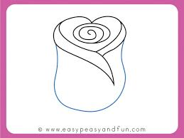 Easy To Draw Roses How To Draw A Rose Easy Step By Step For Beginners And Kids Easy