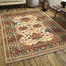 orange and blue area rugs found it at orange beige blue area rug burnt orange and