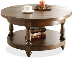 L Newburgh Round Cocktail Table With Lower Shelf