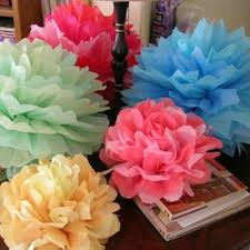 Party Decorations Tissue Paper Balls Paper Flower Balls Tissue Paper Pom Poms 100pcs 100inch Artificial 93