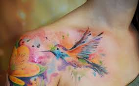 Water Colorful Tattoo Tattoo Pinterest