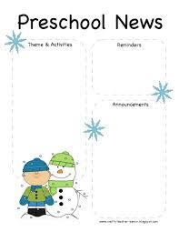 Preschool Winter Newsletter Template Preschool Newsletter