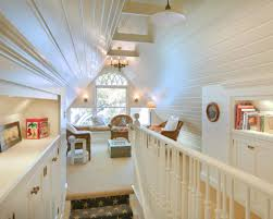 Low Ceiling Attic Bedroom Low Attic Loft Bedroom With Wooden Ceiling And Skylights Low