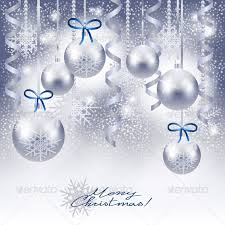 silver christmas background. Perfect Background Christmas Background With Baubles In Silver  SeasonsHolidays In R