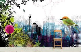 Behang Birds Eye View Hip Behang Van Stories On The Wall