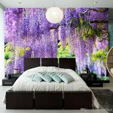 Großhandel Benutzerdefinierte Posterdruck 3d Romantische Lila Blume