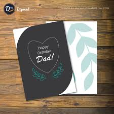 Design A Birthday Card For Dad Birthday Card Free Vector For Father Dad Vectorverse