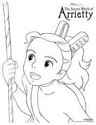 spirited away coloring pages. Interesting Coloring Spirited Away Coloring Pages Arrietty Colouring Page Color These Inside Y