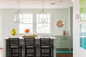 cottage kitchen with green cabinets