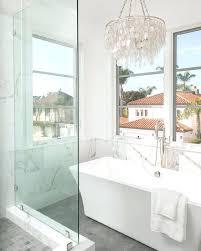 chandelier over bathtub white chandelier above rectangular tub view full size hang chandelier over bathtub