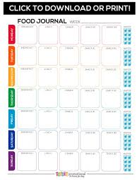 Free Printable Food Journal Motivate Your Fitness Group Totally