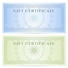 Gift Certificate Voucher Template With Guilloche Pattern Watermarks