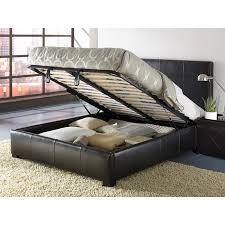 Shop Leather King-size Lift Storage Bed - Free Shipping Today ...