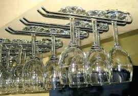 wine stem rack wine glass racks are available in chrome black gold and copper colours stem