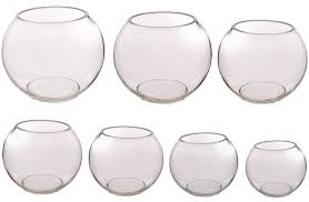 Decorative Clear Glass Bowls Clear Glass Fish Bowl Vase In Many Sizes Quality Decorative 55