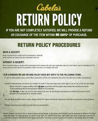 Return Policy Return Policy Cabela's Cabela's