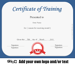 Certificate Of Training Template Free Certificate of Training Template Customizable 1
