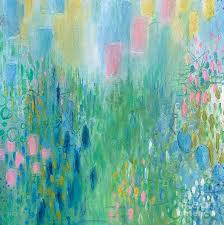 Blooms 1 Painting by Cheryl Rhodes