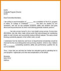 grad school re mendation letter format sample letter of re mendation for graduate school from friend