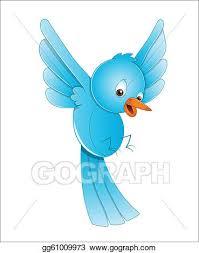 blue bird flying clipart. Fine Clipart Cute Bird Flying In Blue Clipart R