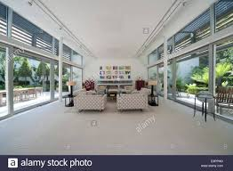 Open Plan Living Room Open Plan Living Room In The Glass House Petersham Middlesex