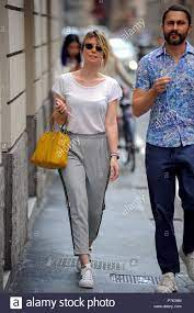 Euridice Axen walks with a friend in Milan, Italy Featuring: Euridice Axen  Where: Milan, Italy When: