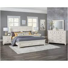 Vaughan Bassett Furniture Timber Creek Distressed White Bedroom ...