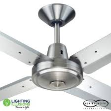 56 1420mm typhoon mach 3 brushed chrome metal ceiling fan lighting illusions