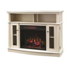 home decorators collection tolleson 48 in tv stand infrared bow front electric fireplace in antique