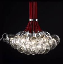 get ations poly yet simple and modern red string glass bubble chandelier ball chandelier lamp creative living room