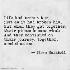 Together Quotes Custom Quote By Steve Maraboli €�Life Had Broken Her Just As It Had Broken