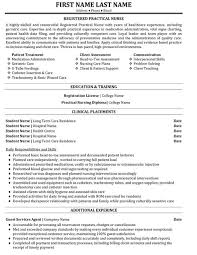 Letter Licensed Practical Nurse Resume Examples Resume Cover