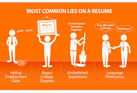 Lying On Resume Interesting LYING ON A RESUME