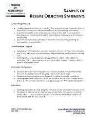 Resume Career Objective Statement Sample Resume Objectives For Beginning Teachers Career Objective 42