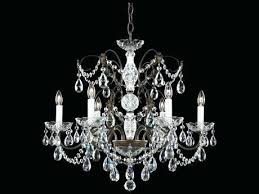 six light chandelier schonbek crystal swarovski strass