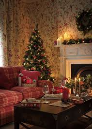 Christmas Living Room Decorating Ideas Fascinating Laura Ashley Christmas Combine Traditional Tones Of Green And Red