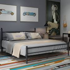 VECELO Queen/Full/Twin-size Platform Bed Frame,Box Spring Replacement with  Headboard and Footboard - Free Shipping Today - Overstock.com - 19786212