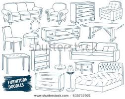 table design sketches. Delighful Table Interior Design Sketch Collection Home Accessories Modern Armchair Retro And Table Design Sketches E