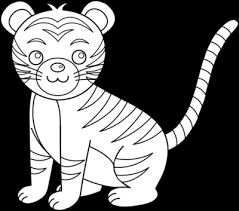 baby tiger clipart black and white. Simple Tiger Vector Freeuse Clipartaz Free Collection Clip Art Animals Images With Baby Tiger Clipart Black And White